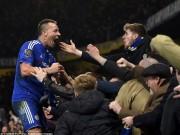 """Bóng đá - Terry """"lập công chuộc tội"""" giúp Chelsea thoát hiểm"""