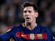 """Bóng đá Tây Ban Nha - Messi chấn thương , Suarez ghi bàn """"khủng"""" nhất châu Âu"""