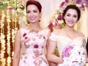 Thúy Hạnh  ' đụng '  phong cách với cô dâu Trang Nhung