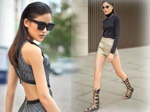 Thời trang - Chà Mi khoe chân dài, eo thon đẹp mắt trên phố