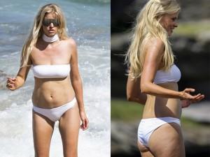 Thời trang - Siêu mẫu Lara Stone gây bất ngờ vì thân hình chảy xệ