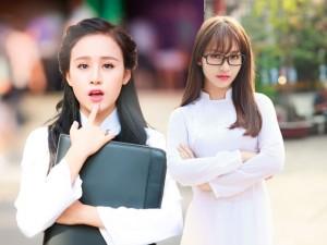 Hot girl Việt tinh khôi trong tà áo dài trắng