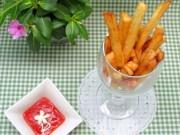 Ẩm thực - Cách làm khoai tây chiên giòn thơm, vàng ruộm