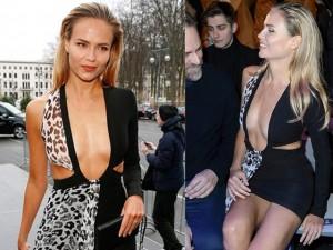 Thời trang - Siêu mẫu hàng đầu nước Nga sexy với váy khoét tận rốn