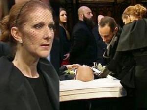 Celine Dion đẫm nước mắt trong đám tang chồng