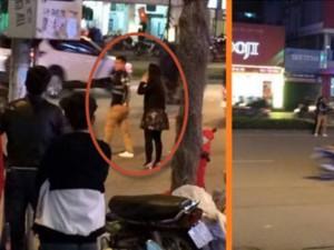 Bạn trẻ - Cuộc sống - Cầm guốc đánh bạn trai chảy máu đầu giữa phố Hà Nội