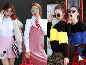 Thời trang - Hạnh Sino - Emily ấn tượng xuống phố ngày đầu năm