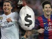 Tin bên lề bóng đá - 20 cầu thủ giàu nhất thế giới: Ronaldo, Messi vô đối