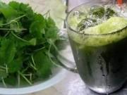 Sức khỏe đời sống - Suýt chết vì cốc nước rau má ngày Tết