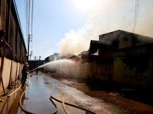 Tin tức trong ngày - Cháy 3 công ty gỗ liền kề, công nhân tháo chạy tán loạn