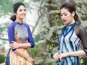 Người mẫu - Hoa hậu - Ngọc Hân, Tú Anh thướt tha áo dài mặc trời rét căm