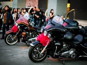 Ô tô - Xe máy - Lễ rước dâu độc đáo của dàn xe Harley-Davidson 'khủng'