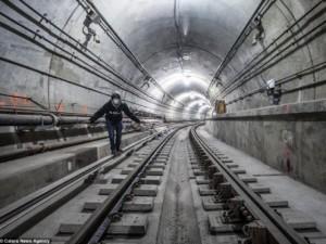 Thế giới - Ảnh: Bất ngờ vẻ đẹp đường hầm tàu điện ngầm Mỹ