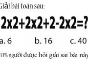 Giáo dục - du học - Thêm một bài toán thú vị nhiều người giải sai