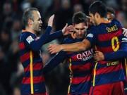 Bóng đá - Đỉnh cao ban bật: Bộ ba MSN + Iniesta = Hoàn hảo