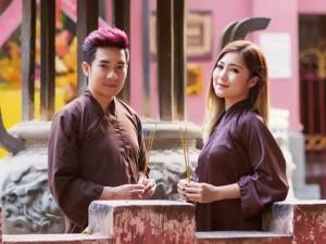 Ca nhạc - MTV - Quang Hà, Hương Tràm mặc áo nâu lên chùa