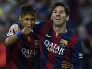 """Bóng đá - """"Hoàng tử"""" Neymar đâu kém tài """"Vua"""" Messi"""