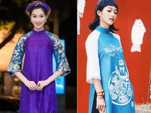 Những mẫu áo dài cách tân làm say lòng mỹ nhân Việt