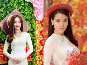 Làm đẹp - 8 kiểu tóc kết hợp với áo dài đẹp nhất của mỹ nhân Việt