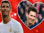 """Bóng đá - Nhân dịp Valentine, CR7 """"tỏ tình"""" với Messi"""