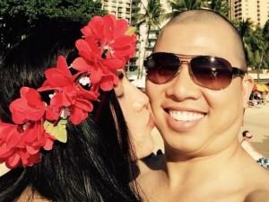 Hải Anh đưa vợ đi Hawaii tận hưởng Valentine lãng mạn