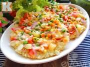 Ẩm thực - Tận dụng cơm nguội thừa làm bánh pizza cơm cháy