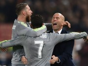 Bóng đá - Chắc vé tứ kết cúp C1, Zidane ngất ngây vì CR7