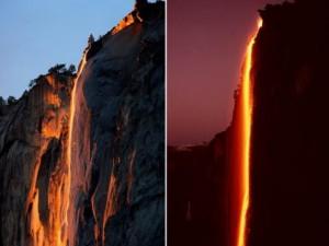 Phi thường - kỳ quặc - Dòng thác nước đỏ rực như lửa ở Mỹ