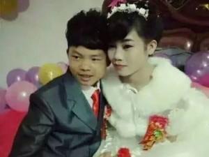 Bạn trẻ - Cuộc sống - Chú rể mặt non choẹt kết hôn với cô dâu 16 tuổi