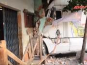 Video An ninh - Contaner húc sập nhà, nhiều người dân đang ngủ thoát chết
