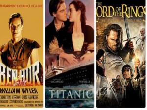 Phim - Ba bộ phim giành kỷ lục 11 tượng vàng Oscar