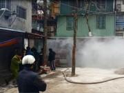 Video An ninh - Cháy lớn tại khu chung cư sắp sập C6 Giảng Võ