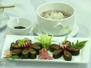 Cách làm sushi và súp gạo lứt thơm ngon, bổ dưỡng