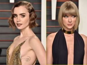 """Thời trang - Taylor Swift ngực """"mini"""" vẫn tự tin với váy khoét sâu"""