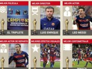 """Video bóng đá hot - Barca xứng đáng ẵm trọn bộ """"Oscar bóng đá"""""""