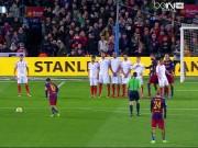 Bóng đá - Messi đá phạt thần sầu đẹp nhất vòng 26 Liga