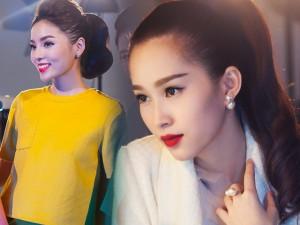 """Thời trang - Hoa hậu Kỳ Duyên đọ sắc """"thần tiên tỷ tỷ"""" Thu Thảo"""
