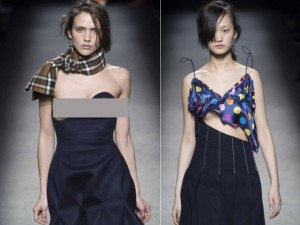"""Thời trang bốn mùa - Người mẫu ngực trần """"náo loạn"""" Paris Fashion Week"""