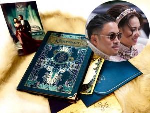 Thiệp cưới đậm chất cổ điển của Victor Vũ và Ngọc Diệp