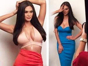 Thời trang - Hoa hậu Hoàn vũ đẹp mê hoặc nhờ đường cong rực lửa