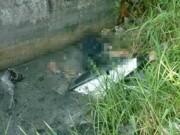 Tin tức trong ngày - Hãi hùng phát hiện thi thể bị xe máy đè dưới cống