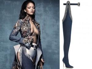 """Thời trang - Rihanna tiết lộ về đôi bốt khiến phụ nữ dễ bị """"bắt cóc"""""""