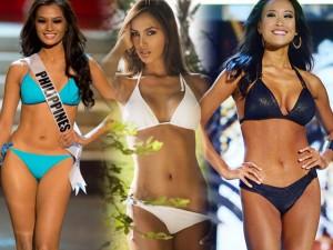 Thời trang - Thân hình gợi cảm của 3 hoa hậu quốc tế tới Việt Nam