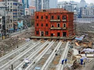 """Thế giới - TQ di dời tòa nhà theo kiểu """"thần đèn"""" Nguyễn Cẩm Lũy"""
