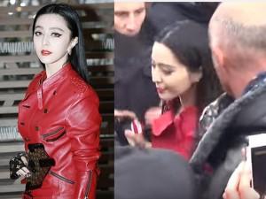 """Người mẫu - Hoa hậu - Phạm Băng Băng bị fan """"bao vây"""" khi dự show tại Paris"""