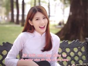 Bạn trẻ - Cuộc sống - Hot girl Malaysia mặc áo dài hát tiếng Việt cực yêu