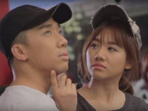 Phim - Hari Won làm nũng Trấn Thành trên phim trường