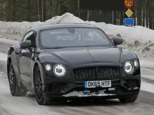 Lộ ảnh thử nghiệm của Bentley Continental GT 2018