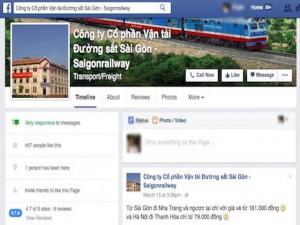 Công nghệ thông tin - Đường sắt Sài Gòn cập nhật thông tin khuyến mãi qua Facebook