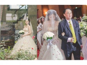 Thời trang - Á hậu Trà My chi 90 triệu cho chiếc váy cưới cúp ngực